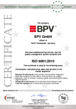 QM ISO 9001:2015 certificate - english version